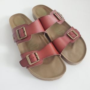 Mad Love || Sandals Double Strap Brown